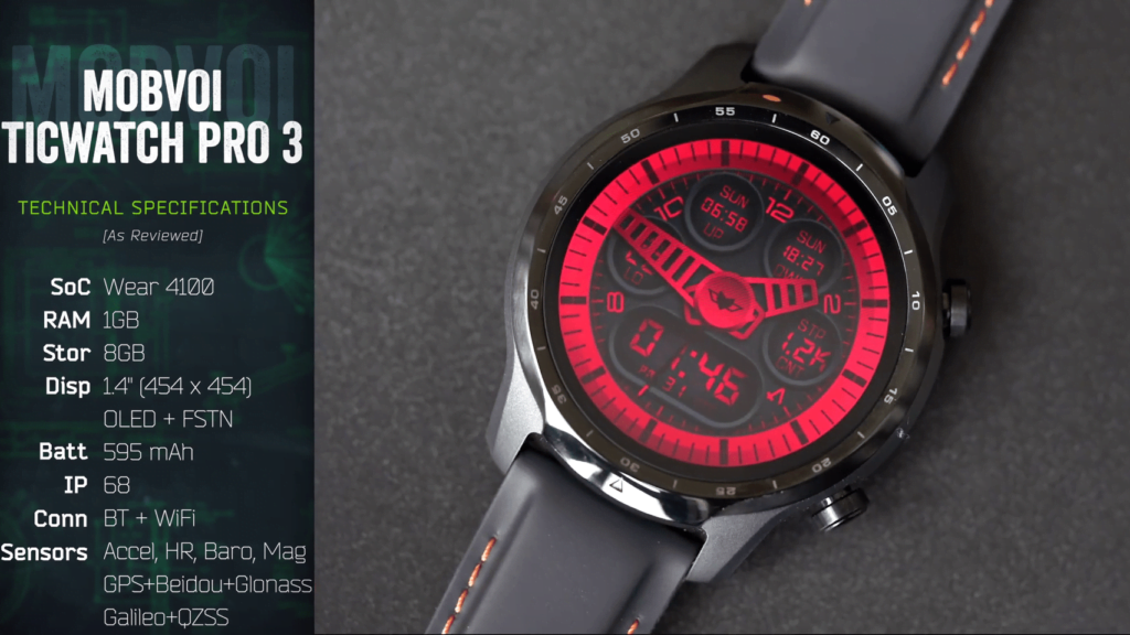 TicWatch Pro 3 Specifications