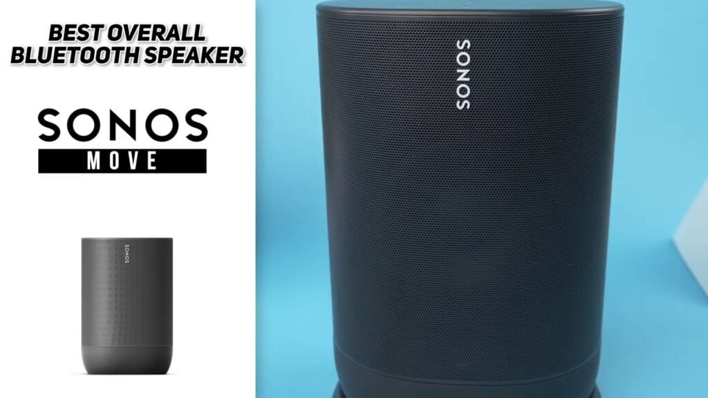Sonos Move - Best Surrounding Battery-powered Smart Speaker, Wi-Fi and Bluetooth with Alexa built-in